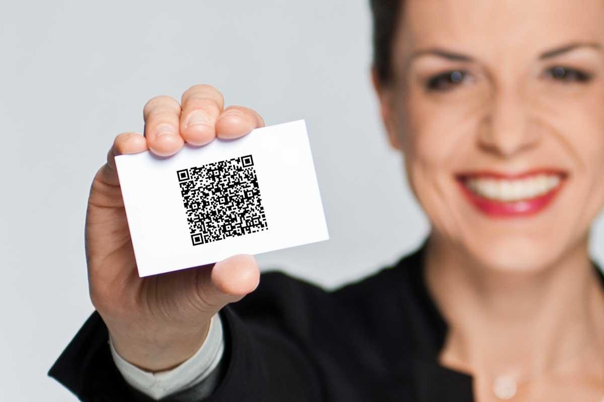 Spart Zeit und macht Spaß: QR-Code auf der Visitenkarte