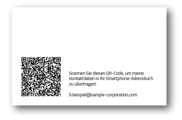 Automatisch: Perfekt gesetzte Visitenkarten | prinux