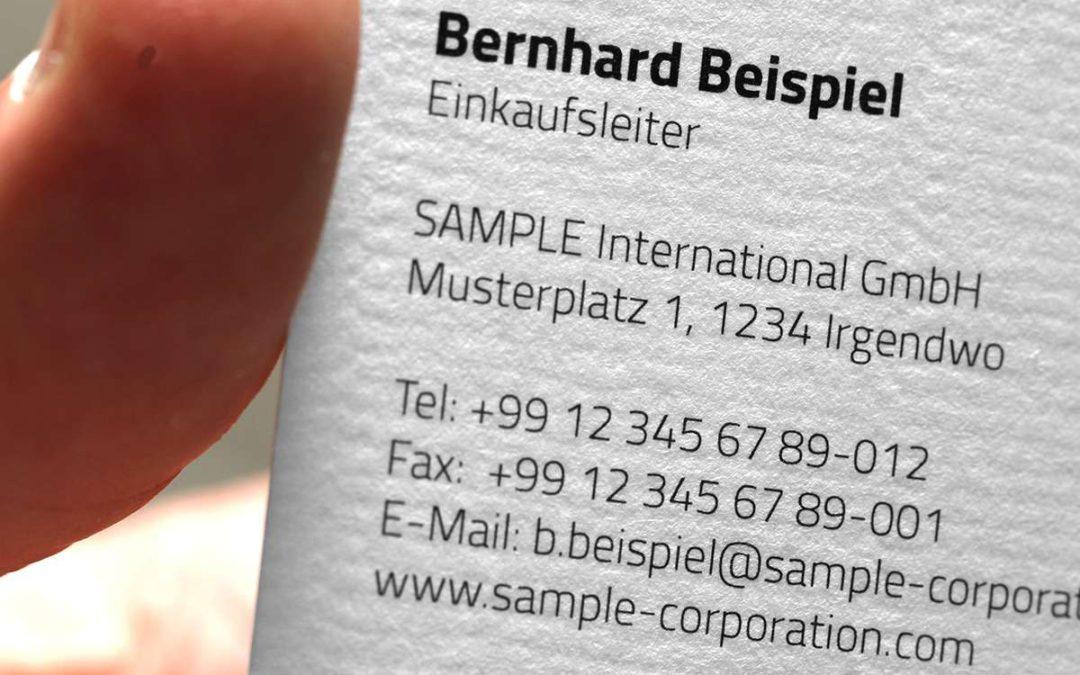 Kleine Papierkunde: Welcher Karton ist für Visitenkarten ideal?