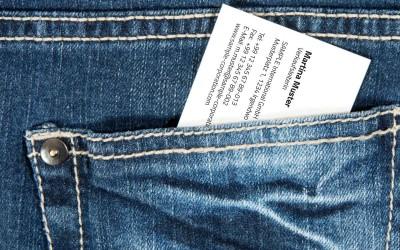 5 Don'ts: Was Sie mit Ihren Visitenkarten niemals tun sollten