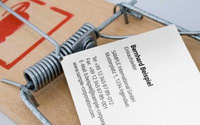 10 Fallen bei der Beschaffung von Firmen-Visitenkarten