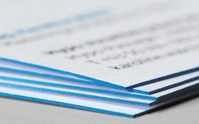 Neu: Visitenkarten mit Farbschnitt zu unschlagbaren Preisen