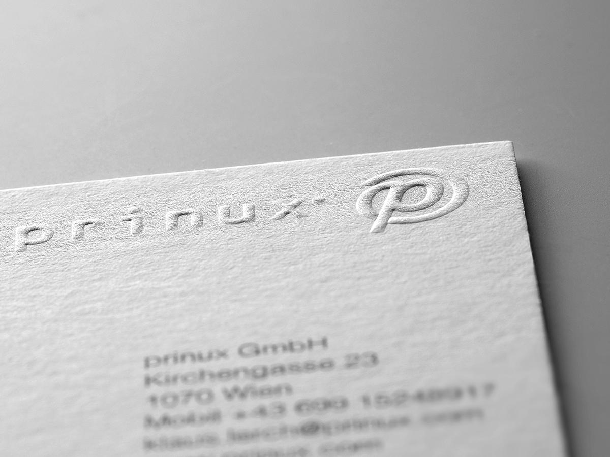 Visitenkarten Mit Blindprägung Prinux