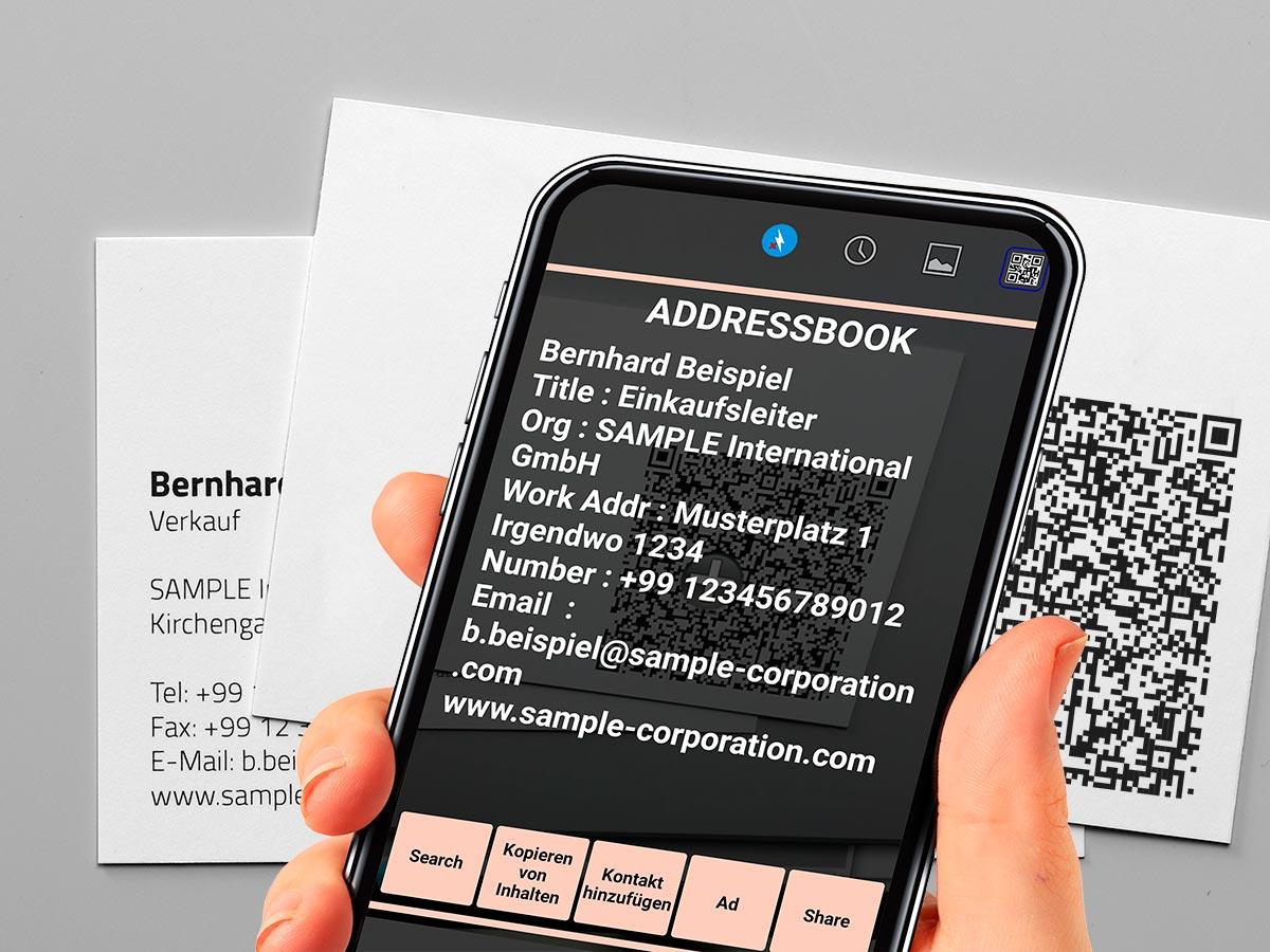 Visitenkarten Mit Qr Code Prinux