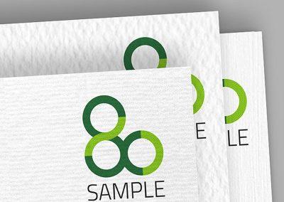 Visitenkarten auf Strukturpapier