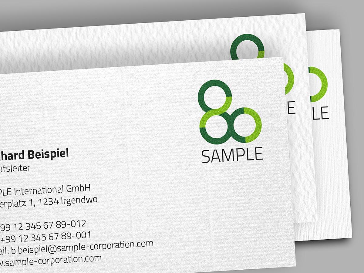 Visitenkarten Auf Strukturpapier Prinux