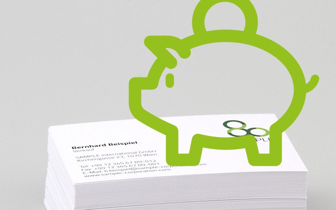 10 saving tips for the procurement of business cards