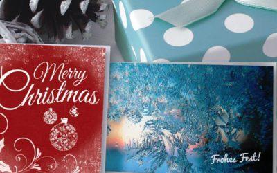 Weihnachtskarten für Ihr Unternehmen: Kostenlose Motive und individueller Text- und Logoeindruck