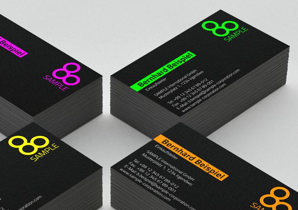 Neu: Visitenkarten und mehr mit digital gedruckten Leuchtfarben