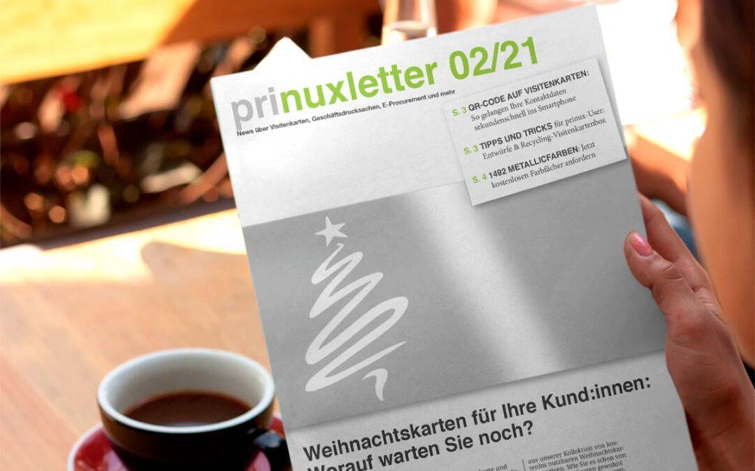 prinuxletter Nummer 2: Metallicfarben für Weihnachtskarten & Co